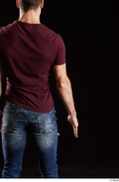 Tomas Salek  1 arm back view dressed flexing red t shirt 0001.jpg